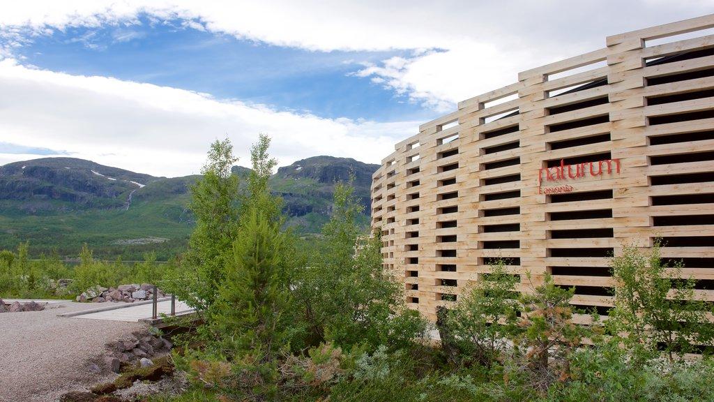 Parque Nacional de Stora Sjofallet mostrando arquitectura moderna