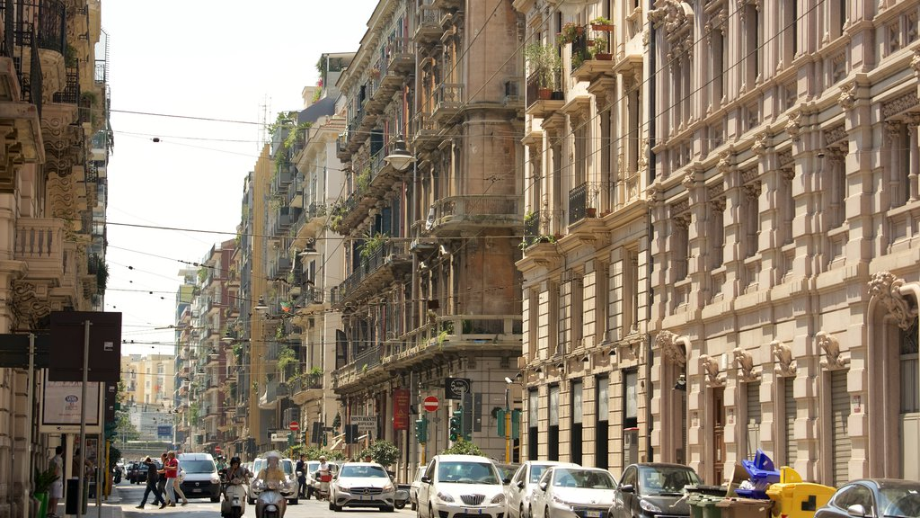 Bari featuring heritage architecture and street scenes