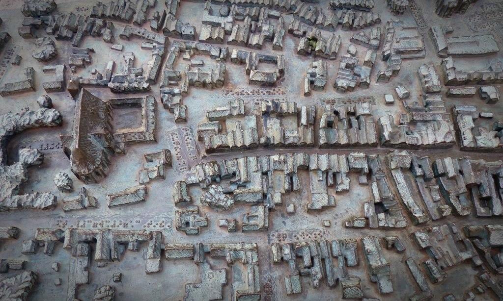 Stadtkarte mit Braille