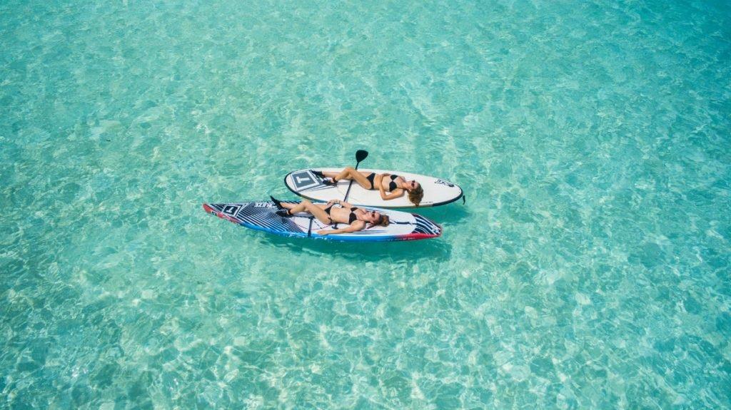 Floaten im Meer