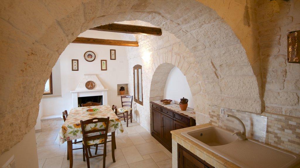 Alberobello which includes interior views