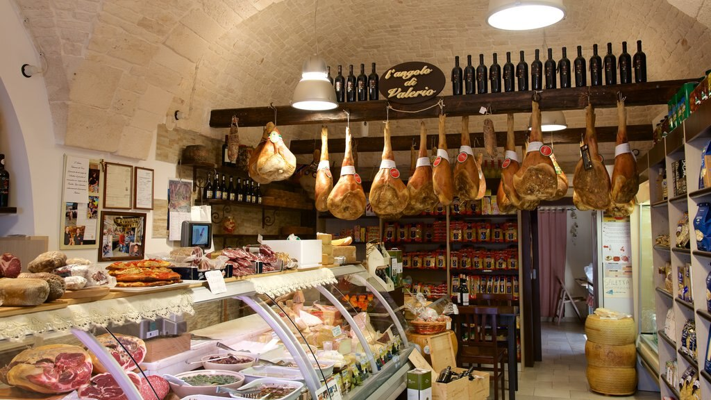 Alberobello featuring food and interior views