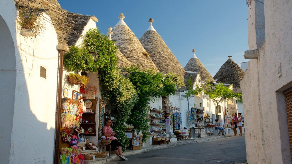 Alberobello which includes a sunset and markets