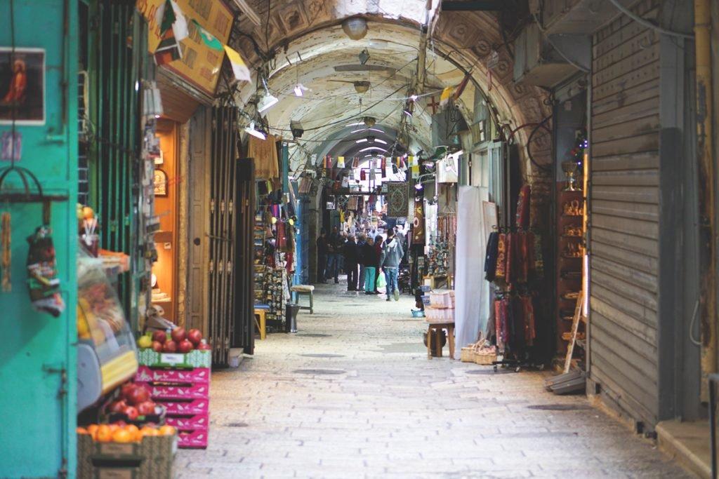 Das muslimische Viertel in Jerusalem