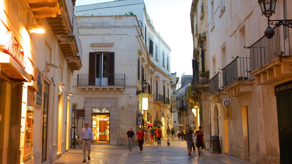 Lecce featuring heritage architecture and a sunset
