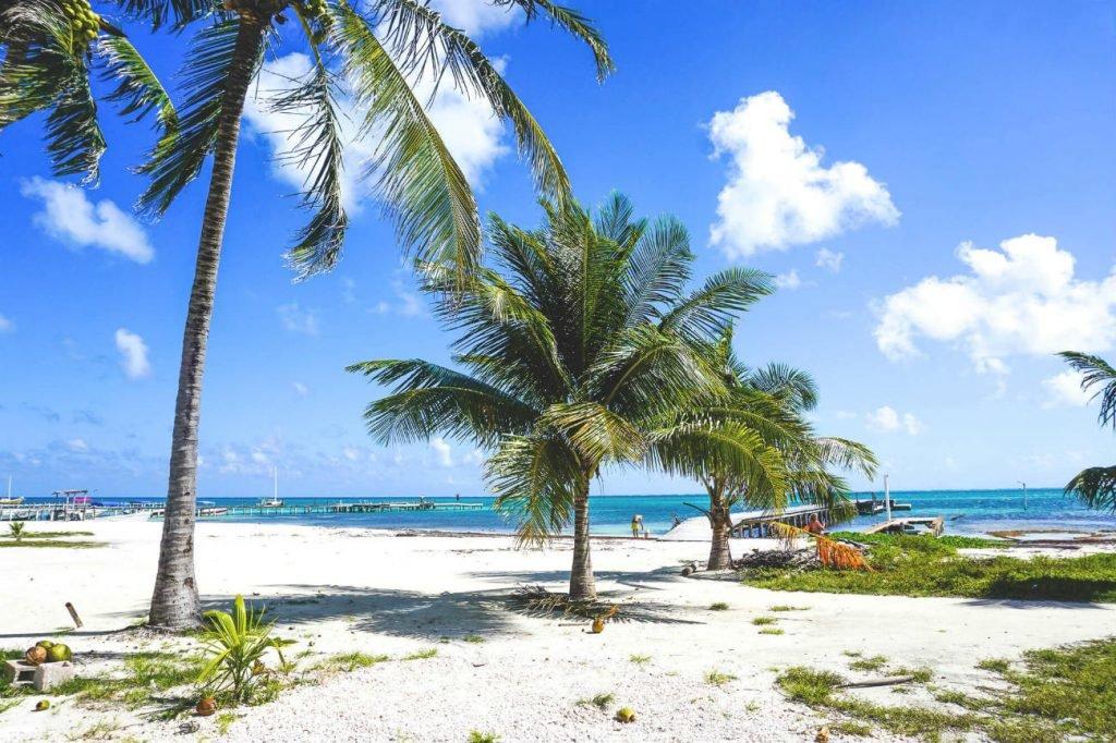 Strand auf Belize
