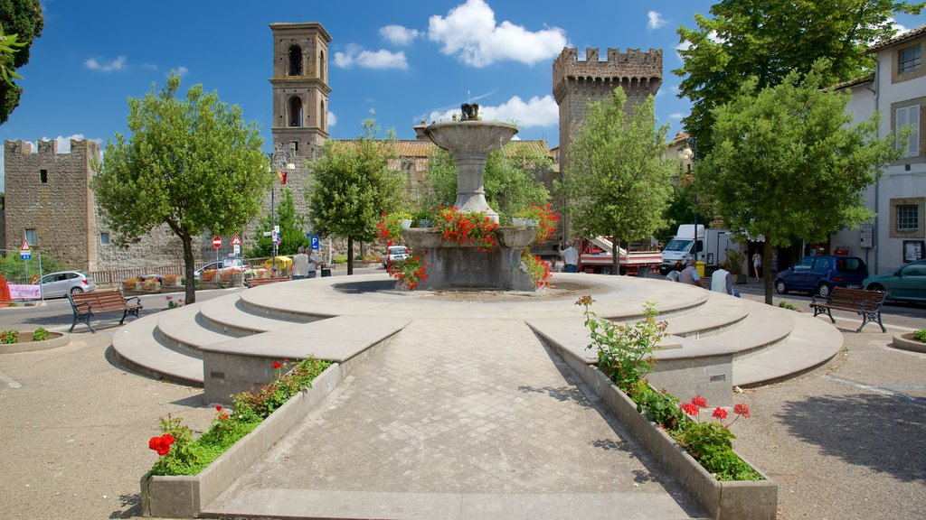 Vitorchiano featuring a park, a fountain and a square or plaza