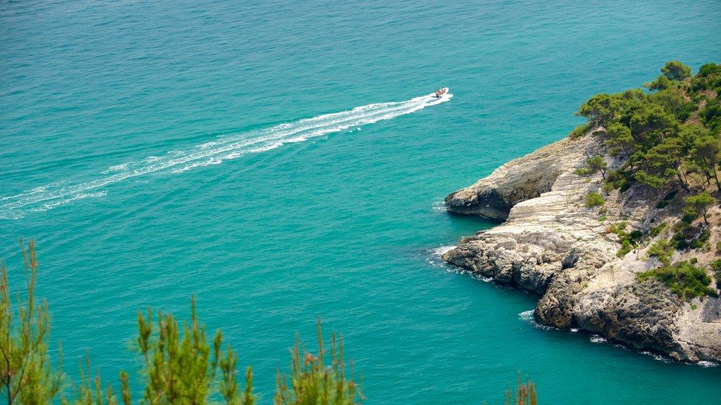Gargano Peninsula which includes rocky coastline