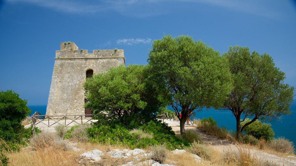 Península Gargano mostrando patrimonio de arquitectura