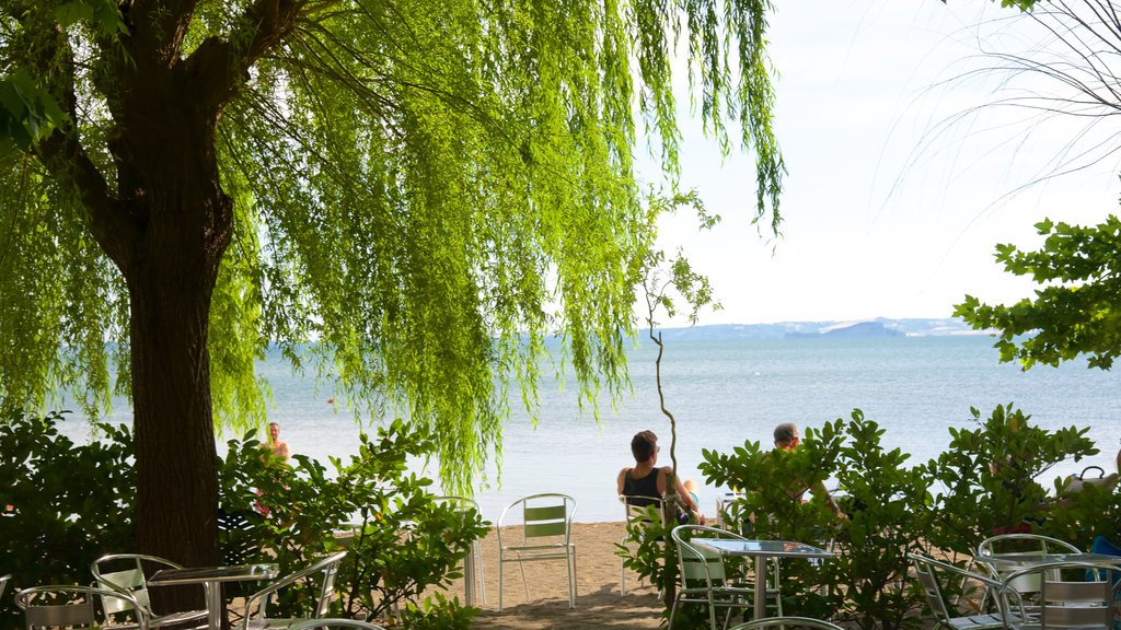 Lake Bolsena featuring general coastal views and a sandy beach