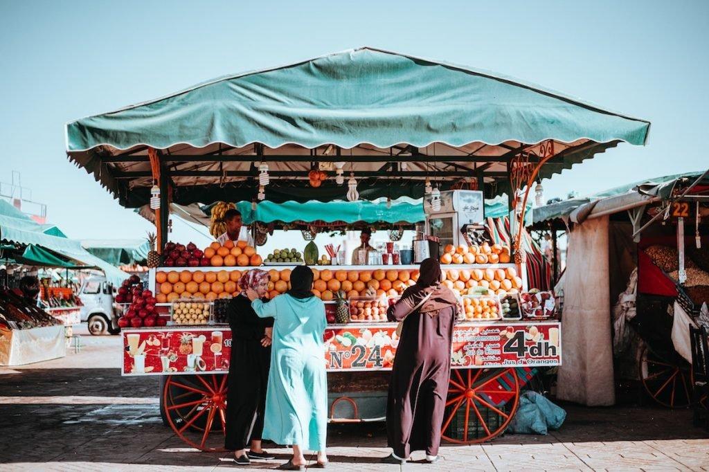 Orangenstand in Marrakesch