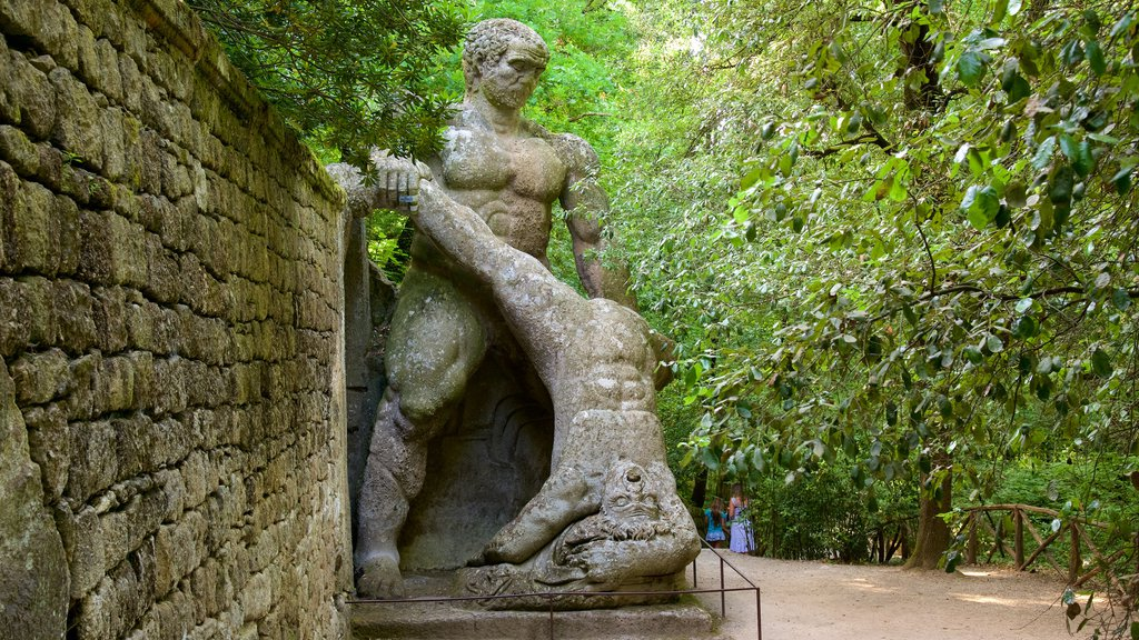 Parco dei Mostri featuring a garden and a statue or sculpture