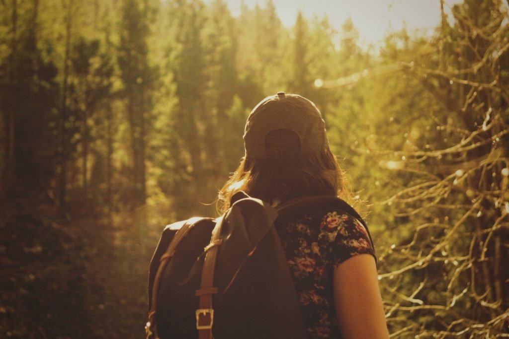 Rucksack für die Wanderung packen