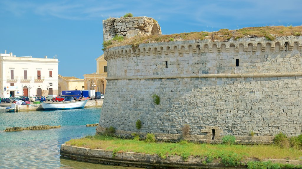 Gallipoli Castle featuring a castle, general coastal views and heritage architecture