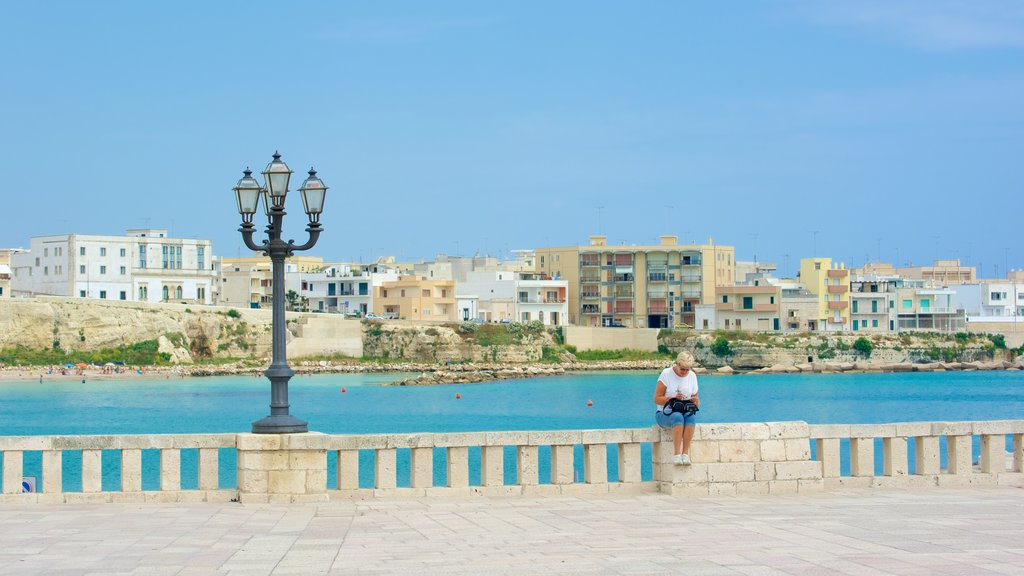 Otranto Waterfront showing a coastal town