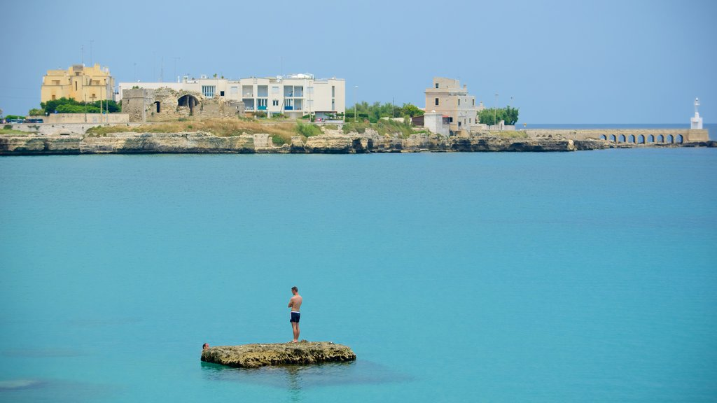 Otranto Waterfront showing a city and general coastal views