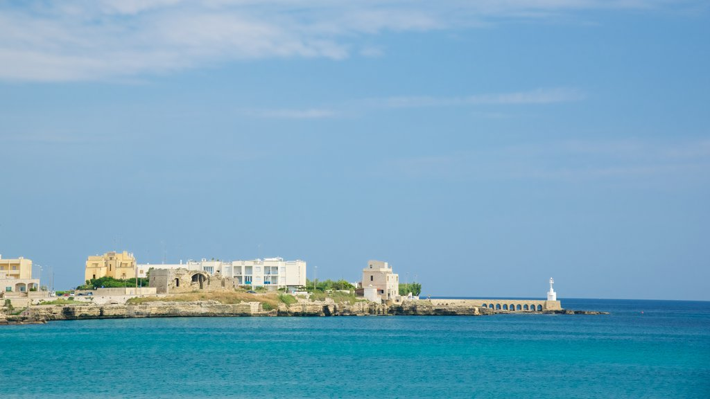 Otranto Waterfront which includes a city and general coastal views