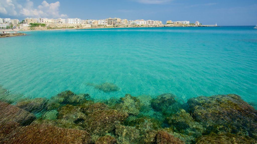 Otranto Waterfront featuring a city and general coastal views
