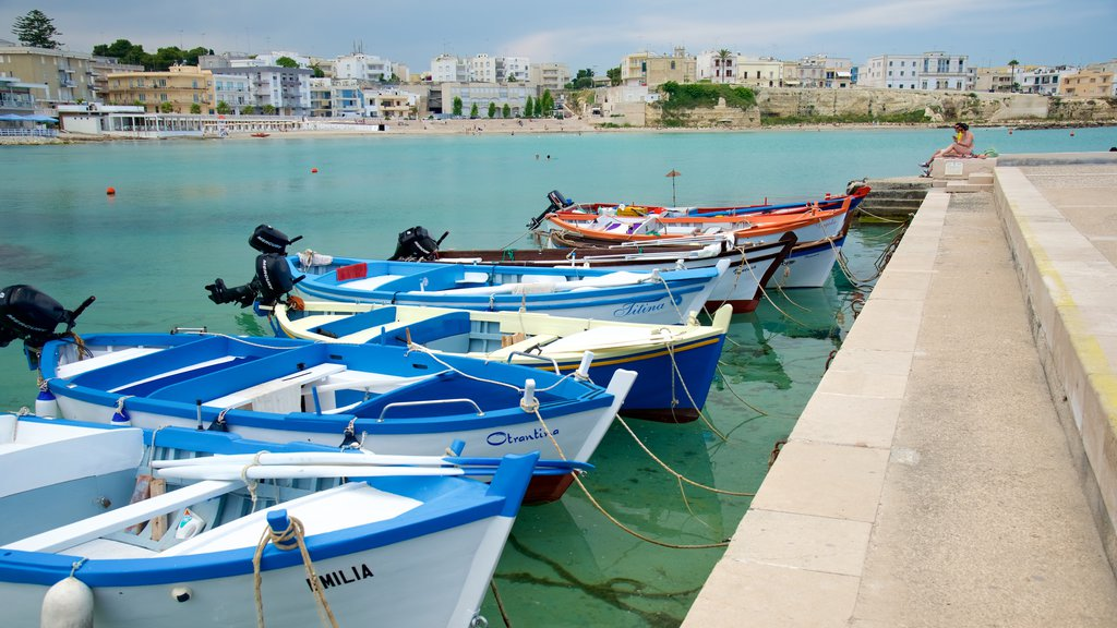Otranto Waterfront which includes a bay or harbor