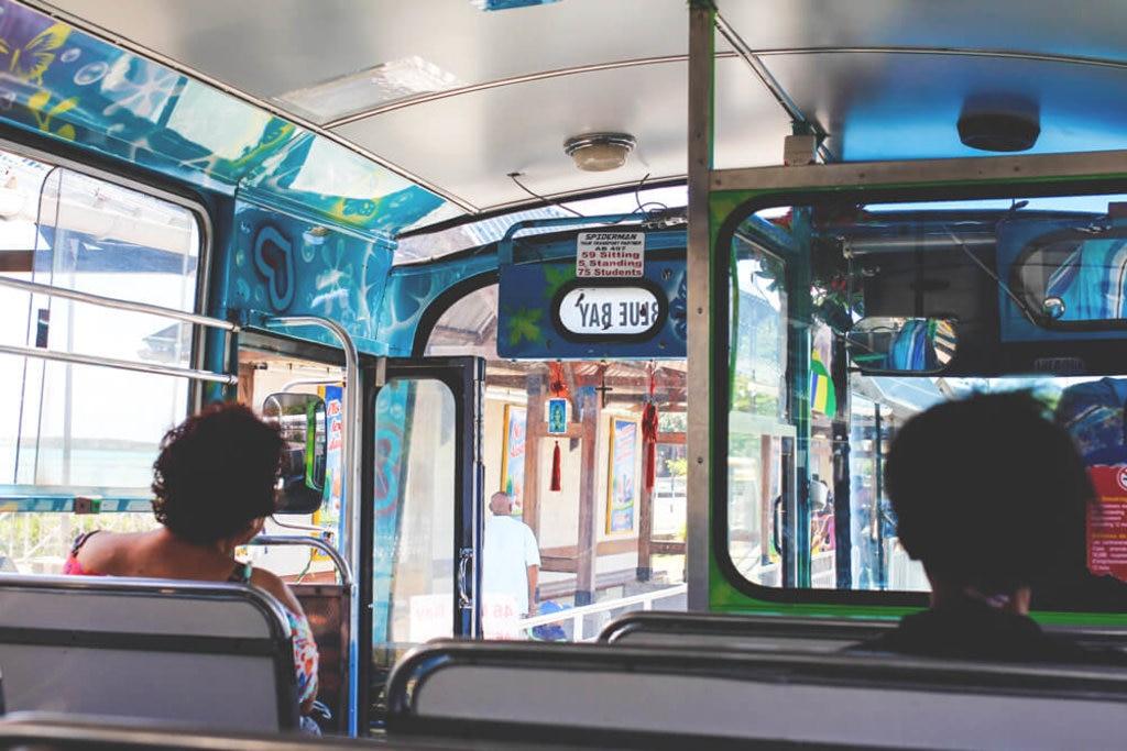 Im Bus auf Mauritius