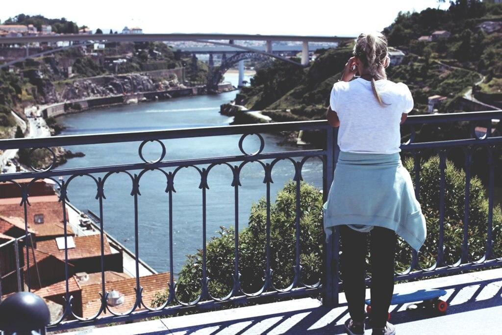 Auf der Brücke in Porto