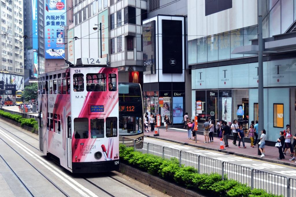 Doppeldeckertram in Hongkong