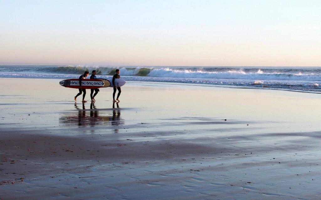Surfen in Carcavelos