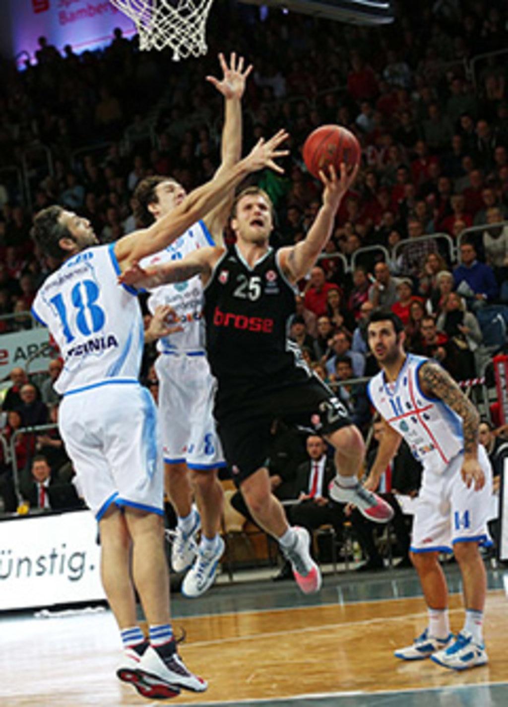 Im Spiel gibt Anton Gavel immer alles © brose baskets