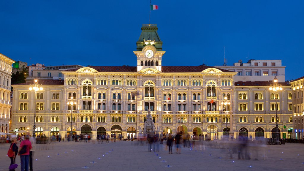 Palazzo del Municipio which includes an administrative buidling, a square or plaza and heritage architecture