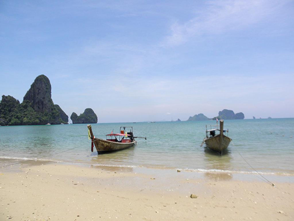 Ab ans Meer: Tonsai Beach in Krabi - übrigens ein Kletterparadies