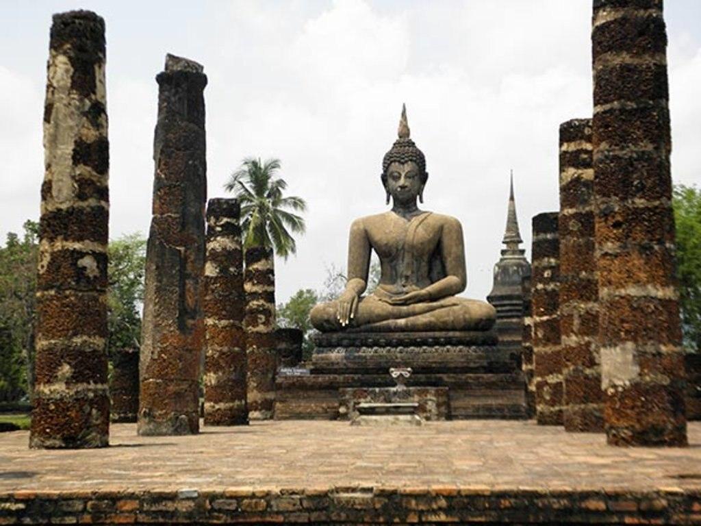 <figcaption>Ausflug in den Sukhothai Historical Park - die ehemalige Hauptstadt des Königreichs Sukhothai</figcaption>