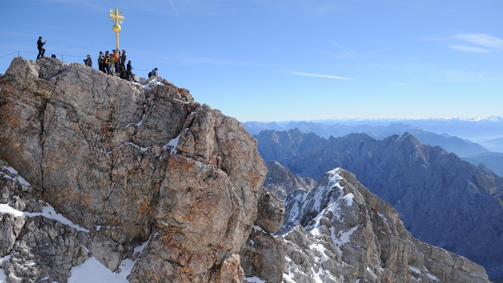 Zugspitze which includes mountains as well as a large group of people
