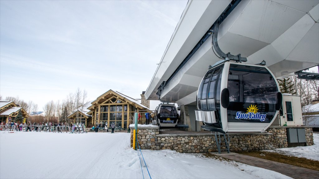 Sun Valley Ski Resort featuring a gondola and snow