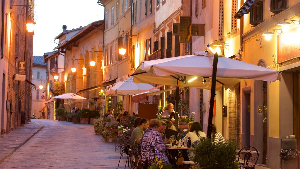 Montalcino featuring a sunset and outdoor eating