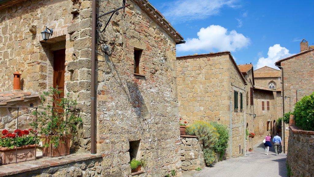 Monticchiello which includes heritage architecture