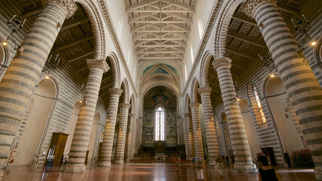 Duomo di Orvieto featuring religious elements, a church or cathedral and interior views