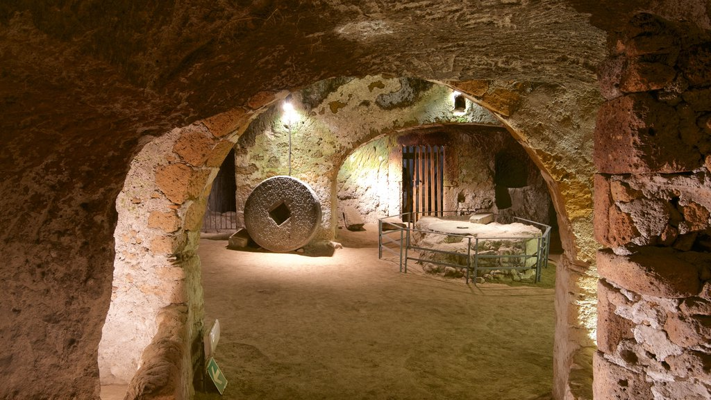 Etruscan Orvieto Underground which includes interior views and building ruins
