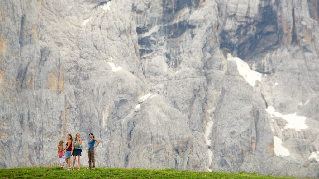 Passo Rolle featuring tranquil scenes as well as a family