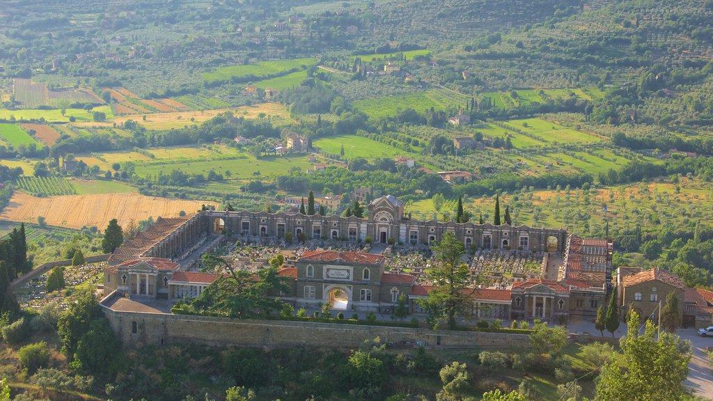 Cortona featuring a cemetery