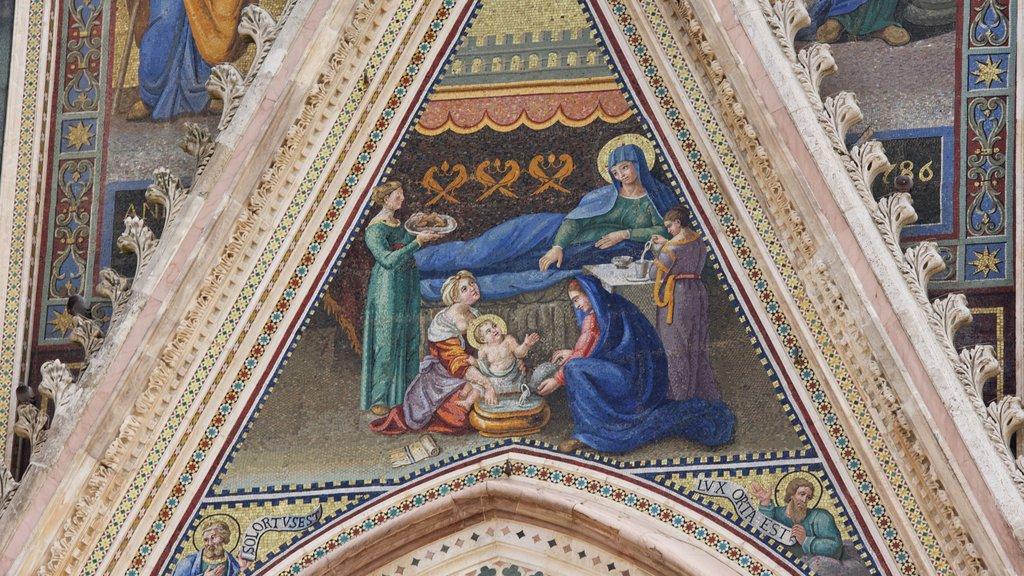 Duomo di Orvieto featuring art and religious aspects