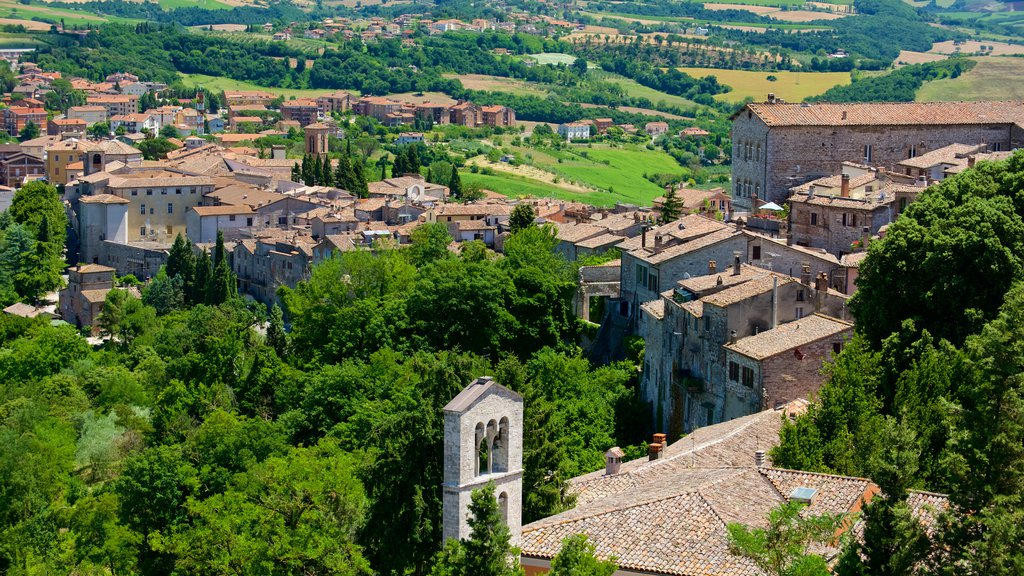 Todi featuring a small town or village and landscape views