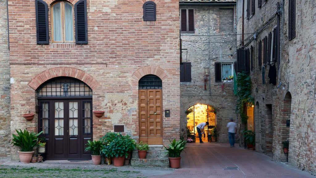 San Gimignano which includes a house and a small town or village