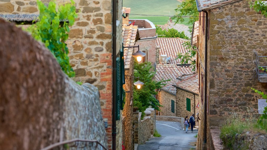 Montalcino which includes a small town or village, heritage architecture and street scenes