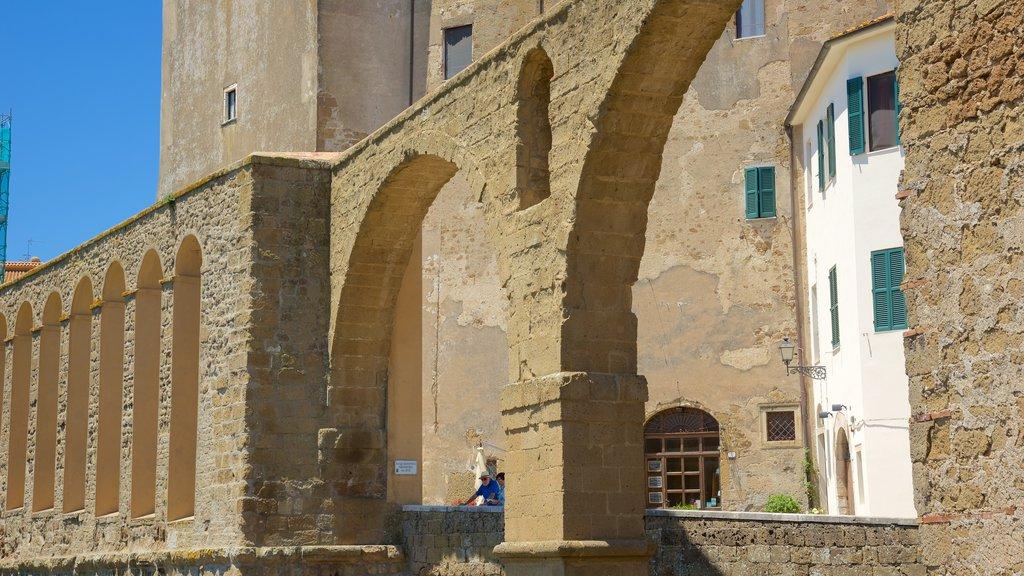 Pitigliano which includes a small town or village