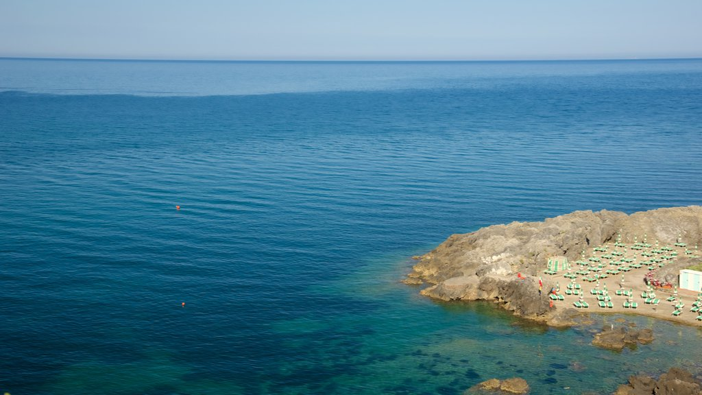Talamone which includes general coastal views and rugged coastline