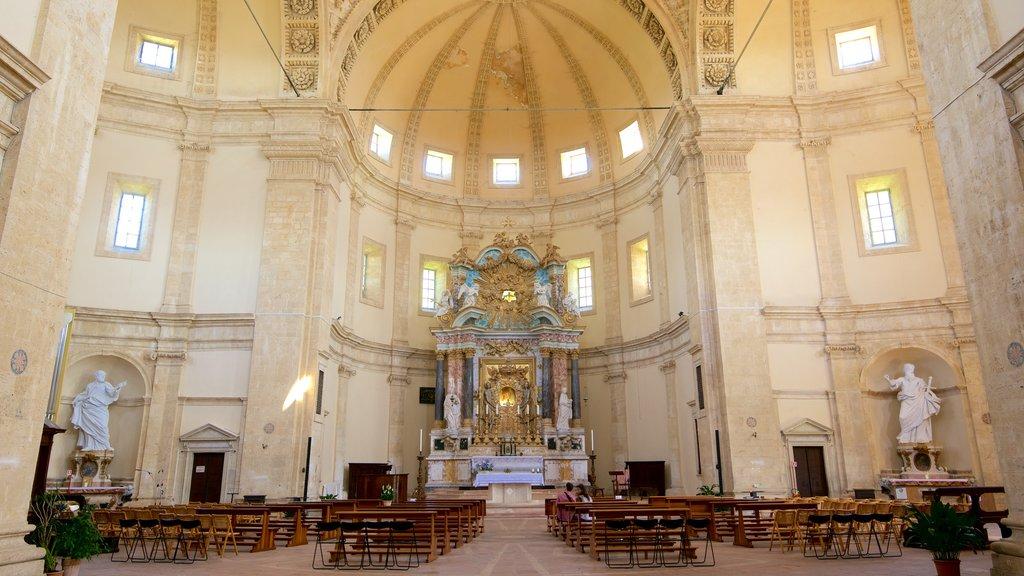 Santa Maria della Consolazione showing interior views, a church or cathedral and religious elements