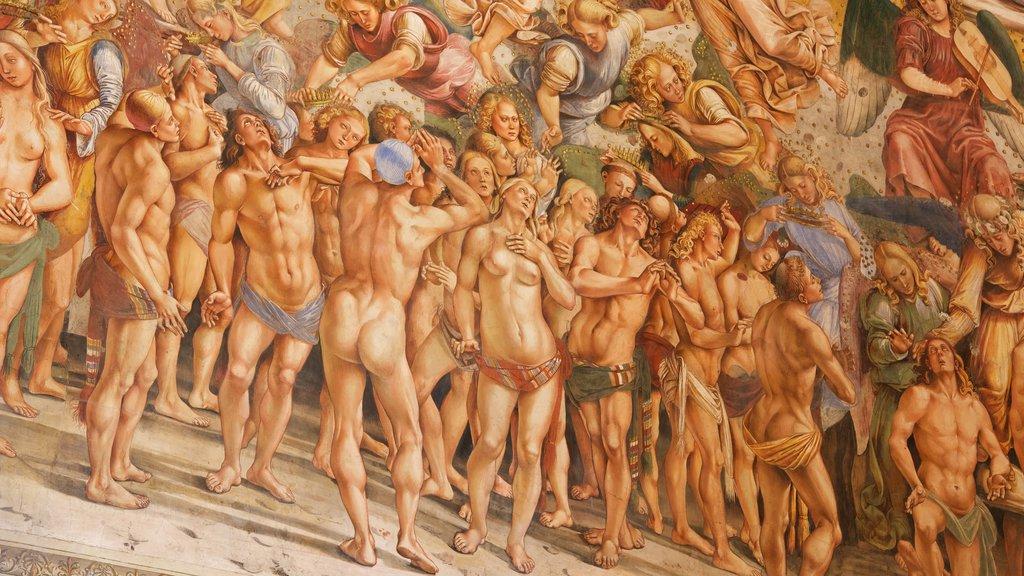 Duomo di Orvieto showing art
