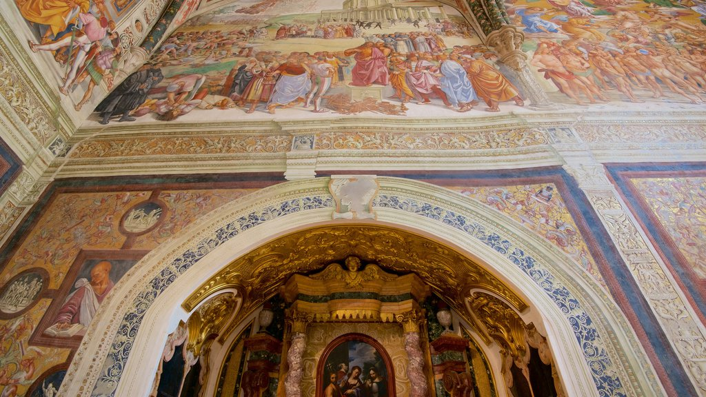 Duomo di Orvieto which includes art, interior views and religious aspects