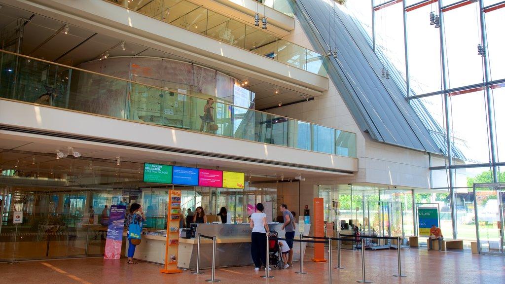 Museo Tridentino di Scienze Naturali showing modern architecture and interior views