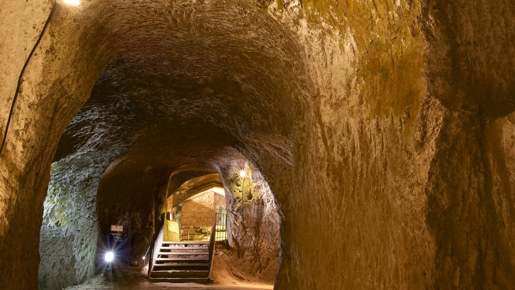 Etruscan Orvieto Underground showing heritage elements and caves